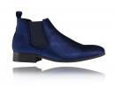 Corduroy Blue Chelsea Boots
