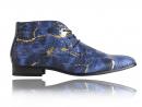Croco Blue Gold