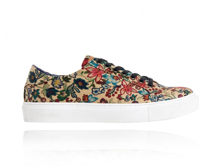 Sand Flower Sneakers, Sand, Flower, Sneakers, Lureaux, Bunt, Schuhe, Print, Beige