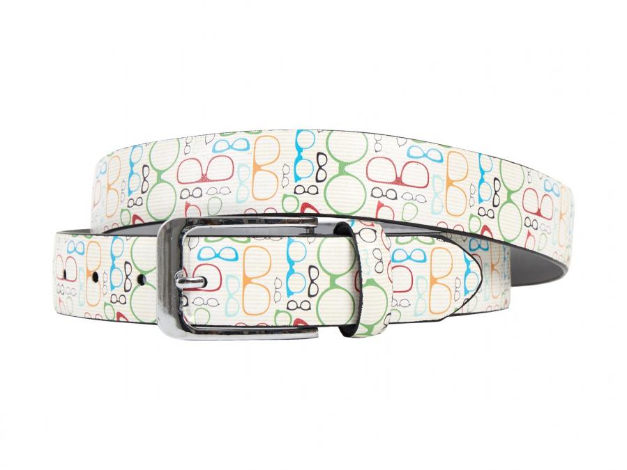 Brille, Schuhe, Rahmen, Druck, Motiv, Gürtel, Herrengürtel, Lureaux, Designer, limitierte Auflage